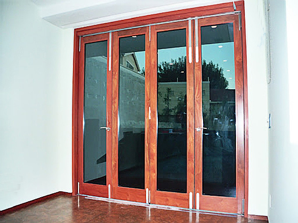 Custom Metal Clad Solid Wood Doors Wood Art Design