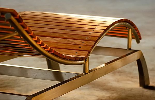 Custom Teak And Stainless Deck Lounge Chairs And Furniture