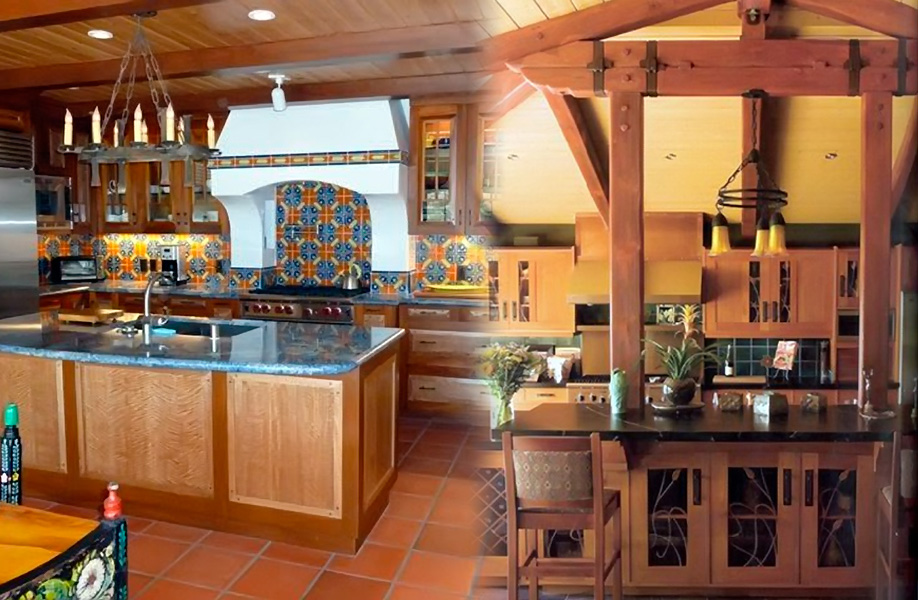 From Spanish influenced to Craftsman - complete kitchens by Wood Art Design