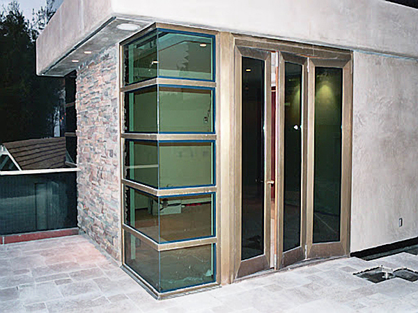 Metal clad solid wood windows unlimited in design size for Wood clad windows
